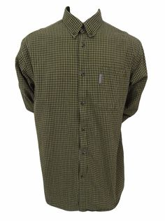 Columbia Shirt Size XL Button Front Long Sleeve Green Plaid #Columbia #ButtonFront