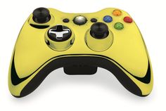 Custom Xbox 360 Controller  Wireless Glossy Half-Green Beige-And-Half-Red Orange- Without Mods