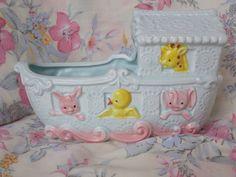 Napcoware Ceramic Baby Planter Animal Ark