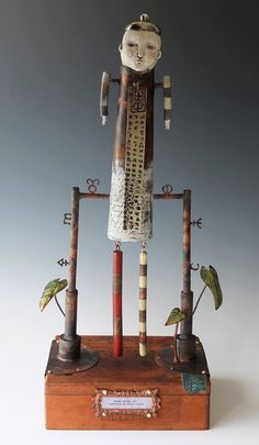 Morgan Brig is a mixed media artist specializing in fabricated copper and enamel sculpture. Found Object Art, Found Art, Wall Sculptures, Sculpture Art, Vintage Oddities, Mixed Media Sculpture, Assemblage Art, Aboriginal Art, Recycled Art