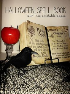 DIY Halloween Spell Book, includes free printable spell book pages