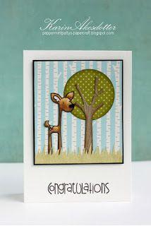 Card by SPARKS DT Karin Akesdotter PS stamp sets: Sentiment Sampler, Happy Camper; PS dies: Trees 1