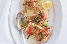 Špenátové gnocchi | Apetitonline.cz Gnocchi, Potato Salad, Shrimp, Potatoes, Meat, Chicken, Ethnic Recipes, Food, Potato
