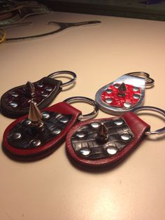 Spiked leather keychains by Butter Tarts of Toronto, $15.00