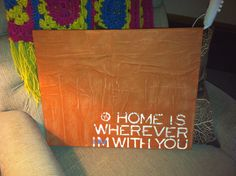 Painted Quote Canvas Art--Multimedia--16x20--Made To Order.. $30.00, via Etsy.