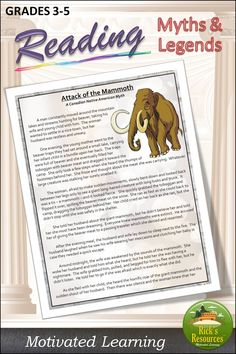 Engaging Myths and Legends that fill a critical curriculum gap. Kids love these. Reading Comprehension Activities, Blended Learning, Close Reading, Gap Kids, Private School, 5th Grades, Graphic Organizers, Curriculum, Fill