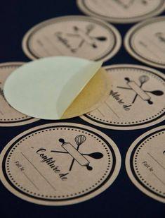 Etiquettes Confiture X 10 Pot Etiquette Conserve Auto Collante Conservation Papier Kraft Stickers Jam