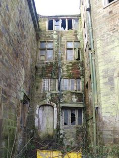 Winstanley Hall,  in Wigan, Manchester, England.Built in the 1560's,the hall had been kept in good condition until the 1960s when habitation stopped. As the building decayed and the cost of maintaining Winstanley Hall was too much for the family it was sold. It was intended to develop the hall into private flats, however refurbishment was held up due to Wigan council withholding planning permission.The interior is now in disrepair.  ( a little creepy.)