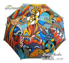 Painted Umbrella  Secret Garden  Flower Illustrations  Rain