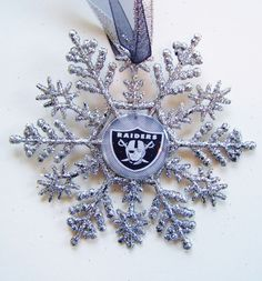 """FOOTBALL FANS... Oakland RAIDERS Christmas Ornament <a class=""""pintag searchlink"""" data-query=""""%231"""" data-type=""""hashtag"""" href=""""/search/?q=%231&rs=hashtag"""" rel=""""nofollow"""" title=""""#1 search Pinterest"""">#1</a> <a class=""""pintag searchlink"""" data-query=""""%23OaklandRaiders"""" data-type=""""hashtag"""" href=""""/search/?q=%23OaklandRaiders&rs=hashtag"""" rel=""""nofollow"""" title=""""#OaklandRaiders search Pinterest"""">#OaklandRaiders</a>"""