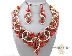 Hey, I found this really awesome Etsy listing at https://www.etsy.com/listing/235512656/red-bridal-statement-necklace-crystal