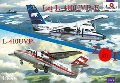 Let L-410UVP and L-410UVP-E, 2 aircrafts, decals Interflug and Polar Aviations. A Model, 1/144, injection, No.1472. Price: 16,84 GBP.