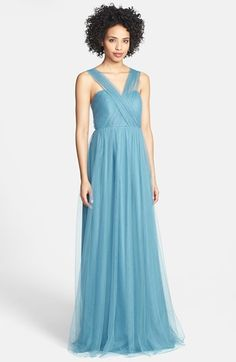 Light blue tulle gown