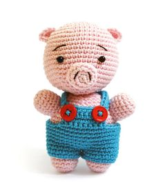 Reco the Pig amigurumi crochet pattern by airali handmade