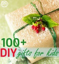 Here are 101 DIY gifts for kids that are the perfect homemade gifts to give the kids on your holiday list. Many of these gifts are great kid-made gifts.