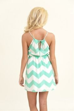 Stunning Side Dress-Mint - Click image to find more Women's Fashion Pinterest pins