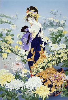 Kiku Digital Art by Haruyo Morita