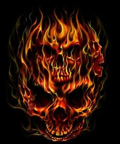 *laughs insanely* you thought you knew me, but you don't Flame Tattoos, Skull Tattoos, Body Art Tattoos, Cool Tattoos, Totenkopf Tattoos, Flame Art, Skull Pictures, Skull Artwork, Skeleton Art