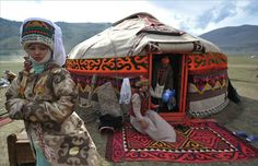 Traditional dwelling of the Kyrgyz - a Yurt