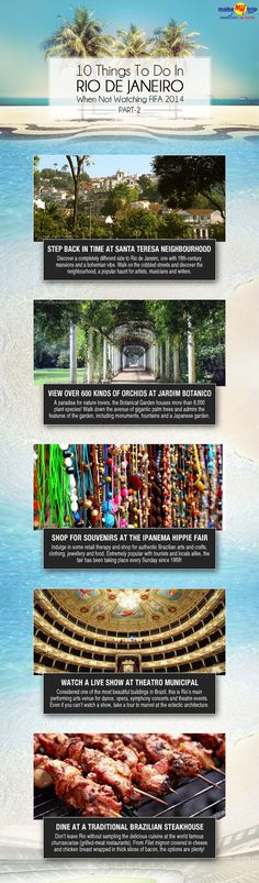 Things To Do In Rio de Janeiro, Brazil When Not Watching #FIFA 2014 #travel #infographic