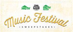 HGTV CMA Music Festival 2016 Sweepstakes