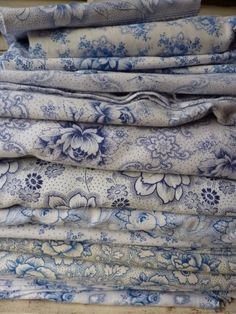 .blues printed vintage fabrics