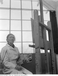 Charley Toorop in haar atelier in de Bergen (1950-54). Vrienden en tijdgenoten van Pyke Koch