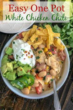 Easy One Pot White Chicken Chili