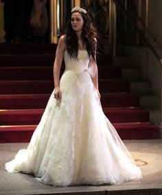Blair Vera Wang wedding dress