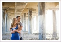 Huntington Beach engagement session photos by Marsha McNeely Photography, CLICK HERE to see more of their amazing images. http://marshamcneely.com/weddings/huntington-beach-engagement-session/  #beachengagementsession, #huntingtonbeach, #ocweddingphotographer