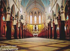 One truly beautiful and unique Detroit place is Ste. Anne's. This parish has been running continuously since July 1701 and it is the second oldest Roman Catholic operating parish in the US. Detroit Wedding, Bucket List Destinations, Detroit Michigan, Roman Catholic, Places To See, Two By Two, This Is Us, Explore, Beautiful