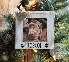 The perfect gift for pet lovers is their own Personalized Pet Christmas Ornament Picture Frame