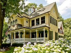Victorian home--with the sewing room on the 2nd floor on the right! Dream big!