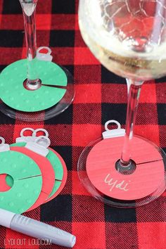 holiday party idea diy ornament wine charms courtesy of lydi out loud