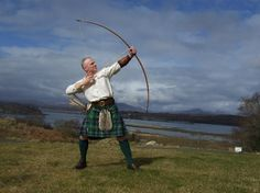 Scotland - Traditional Archery: Sean OByrne shooting on our archery range at Ardtorna
