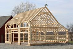 Grab popular High Resolution Post And Beam Garage Kits Post And Beam Timber Frame Barn design recommendations from Sara Phillips to update your livin. Building A Pole Barn, Pole Barn House Plans, Pole Barn Homes, Garage Plans, Pole Barns, Garage Kits, Barn Garage, Building Homes, Barn Builders
