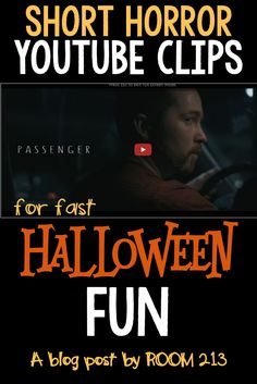 HIGH SCHOOL ENGLISH: want to have some Halloween fun but don't have a lot of time? Use some short horror clips to discuss atmosphere and suspense.