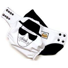 Heisenberg Wanted sketch cloth diaper by Honeybuns Breaking Bad