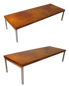 pastoe grande table de salon en placage de palissandre pitement en mtal chrom - Grande Table