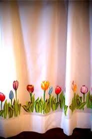 Resultado de imagen para cortinas pintadas a mano