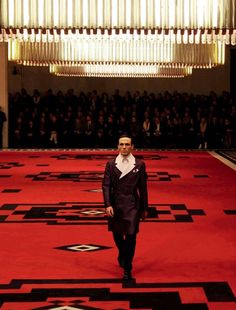 Prada geometric carpet at the Prada show