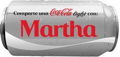 """Nombres en Imagen: Coca cola con """" M """""""