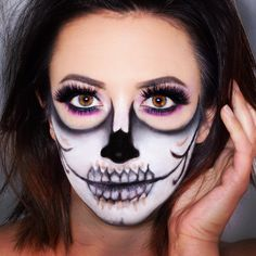 skull makeup halloween makeup look half skull makeup