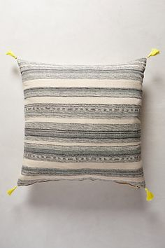 Striped Linen Cushion - anthropologie.eu