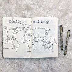 what is your dream destination? • • Tools: Sakura Pigma Micron 04 + 01 Leuchtterm1917 - black • • #bulletjournal #bullet #journal #minimalist #tumblr #bulletjournaling #cactus #plants #leuchtturm1917 #leuchtterm #tombow #dualbrushpen #micron #sakura #bujo #moleskine #planner #world #map #wheretogo #vacation #bujomap #bujo #pigma #dreamvacation #dreamdestinations • made by mae (15)