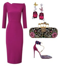 """""""Untitled #868"""" by mchlap on Polyvore featuring Roland Mouret, Alexander McQueen, Anna Hu and Christian Louboutin"""