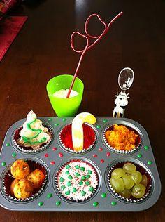 Christmas Muffin Tin Meal