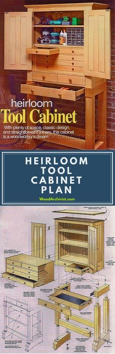 Heirloom Tool Cabinet Plans - Workshop Solutions Plans, Tips and Tricks | WoodArchivist.com