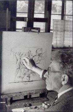 Alberto Giacometti en 1961 retrato por Henri Cartier-Bresson