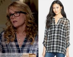 Switched at Birth: Season 4 Episode 1 Kathryn's Blue Plaid Shirt